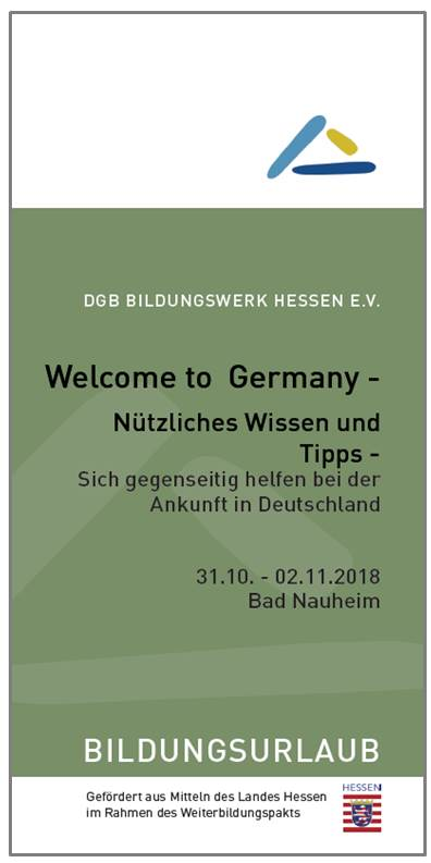 "Flyer ""Welcome to Germany"""