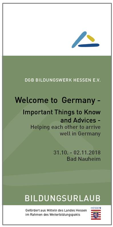 "Flyer ""Welcome to Germany"" (englisch)"